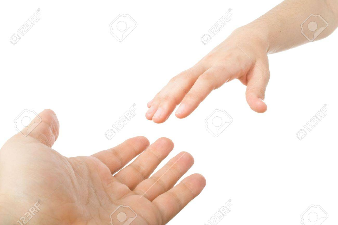 Reaching hands. Concept for rescue, friendship, guidance... Stock Photo - 3146358