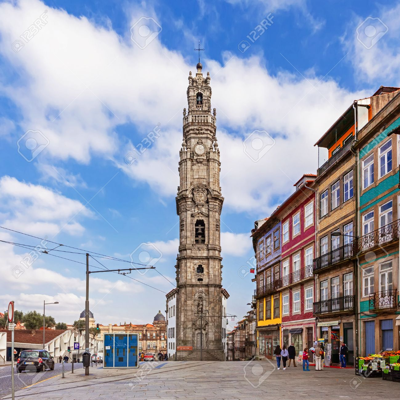 Superior Porto, Portugal. January 5, 2015: The Iconic Clerigos Tower, One Of