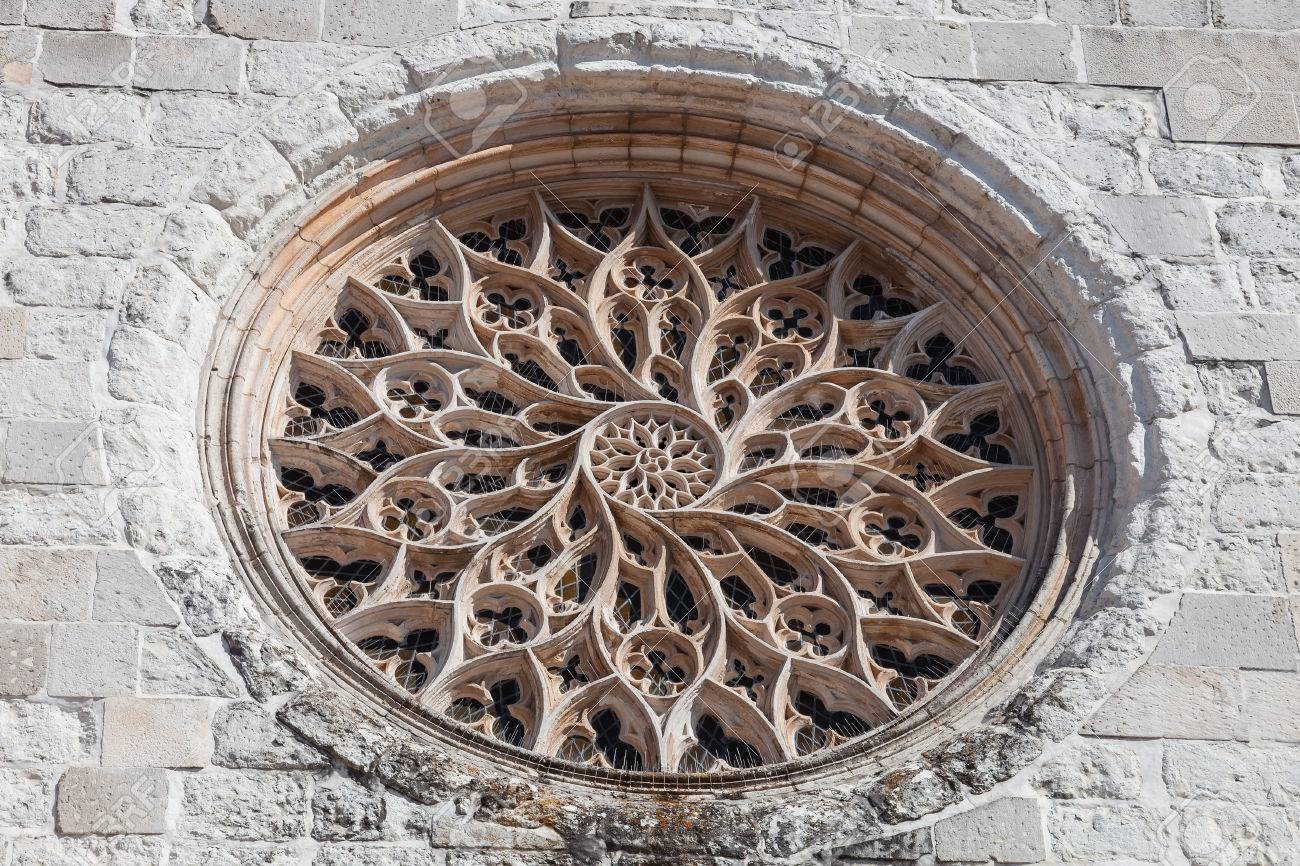 The Rose Window Of Santo Agostinho Da Graca Church Is Largest