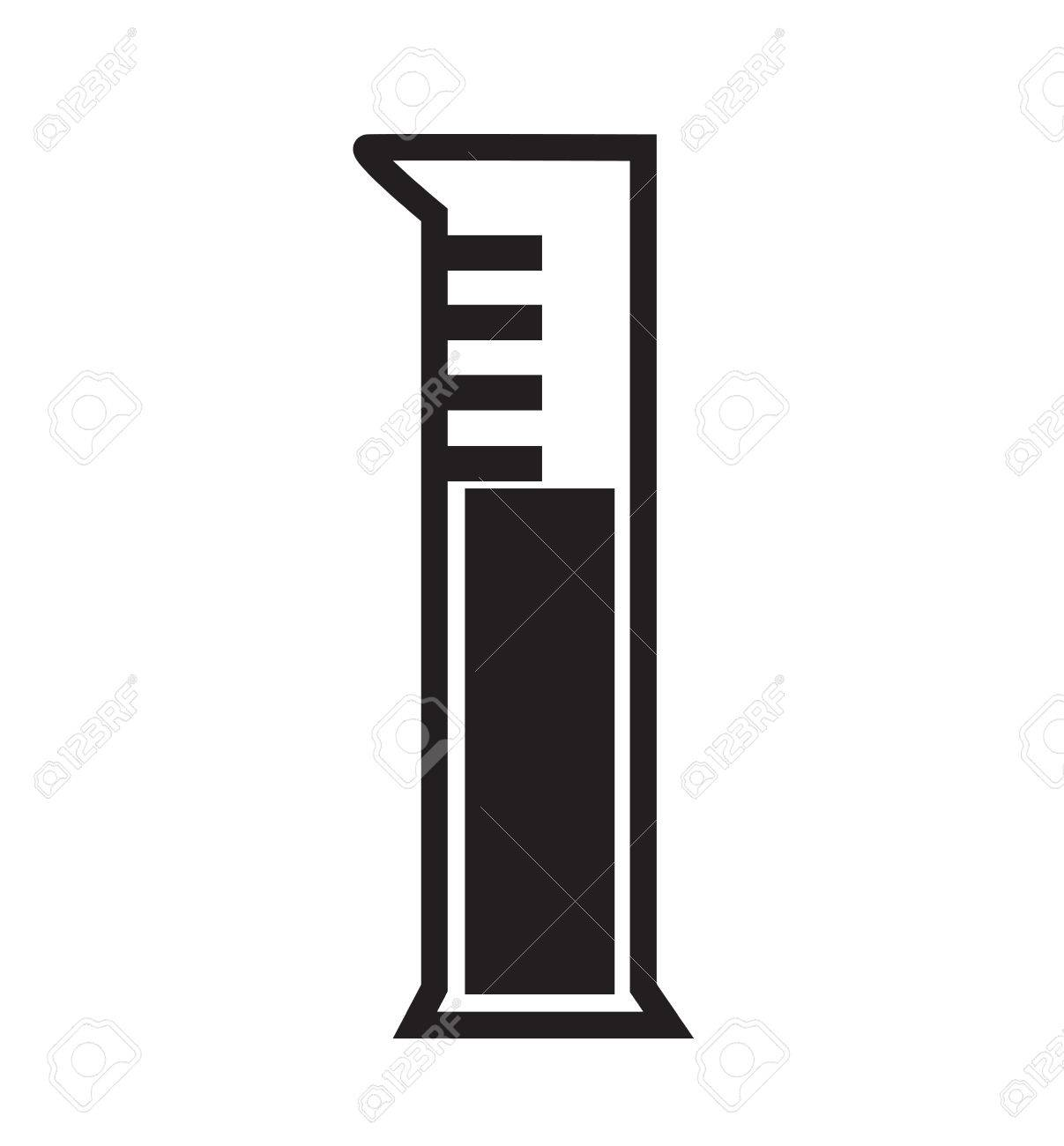 Graduated Cylinder Icon Vector Isolated In White Background Royalty