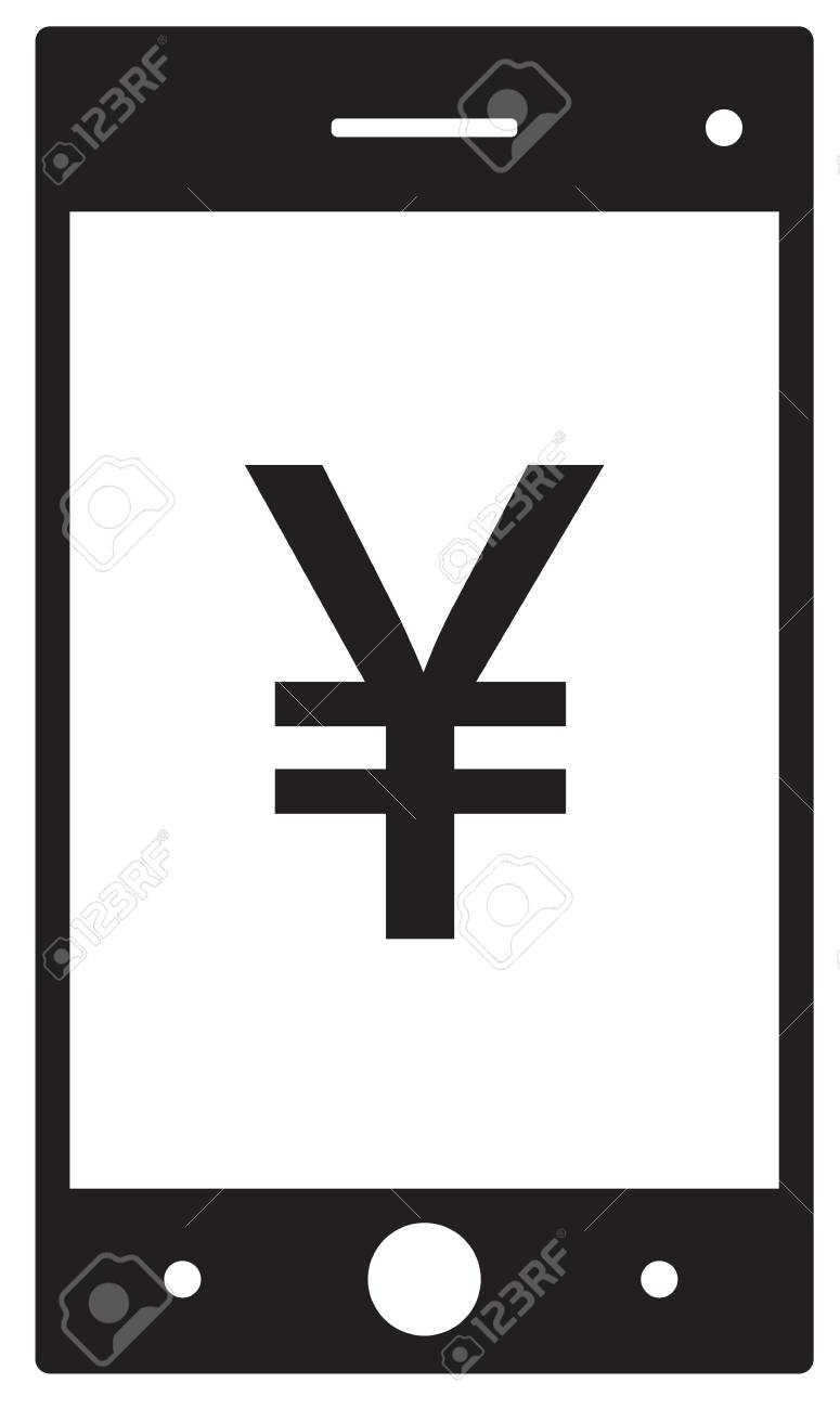 yen yuan or renminbi currency icon or logo vector on a cell rh 123rf com cell phone logo images cell phone logo design
