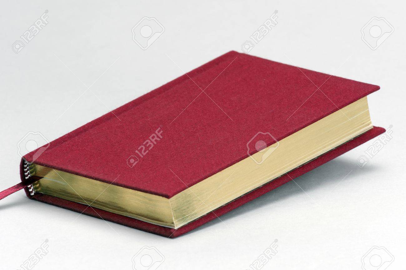 Red Plain Book With Gold Coloured Pages Stock Photo, Picture And ...