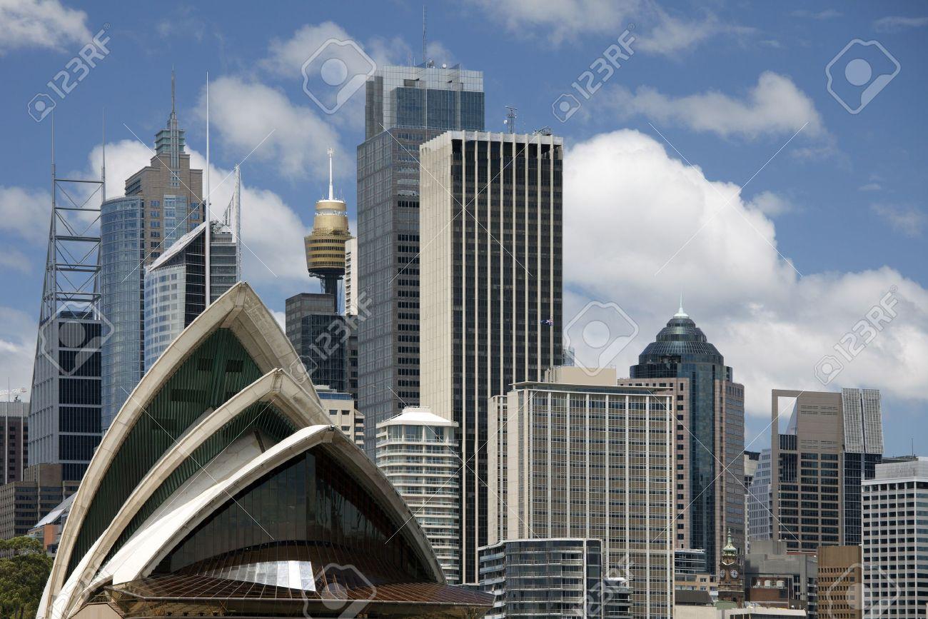 Sydney Architecture Moderne Au Centre-ville, L'Australie Banque D ...