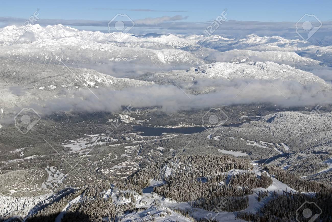 Whistler Village and Coast Mountains, British Columbia, Canada Stock Photo - 17680645