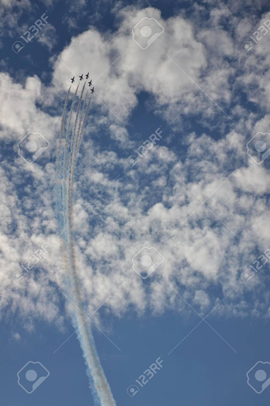 Red Arrows - RAF aerobatic team Stock Photo - 15385295
