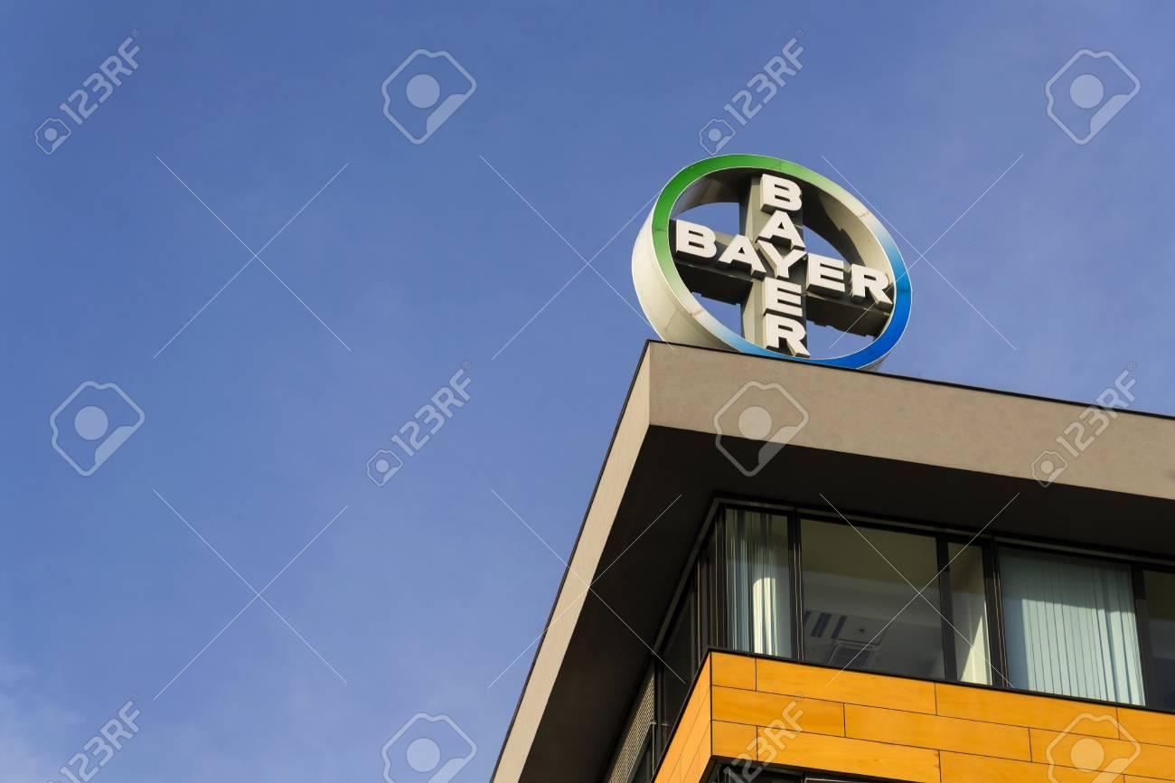 PRAGUE, CZECH REPUBLIC - NOVEMBER 7: Bayer pharmaceutical company