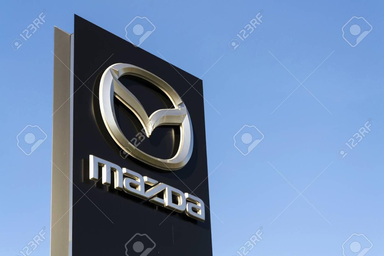Prague Czech Republic March 31 Mazda Car Company Logo In Stock