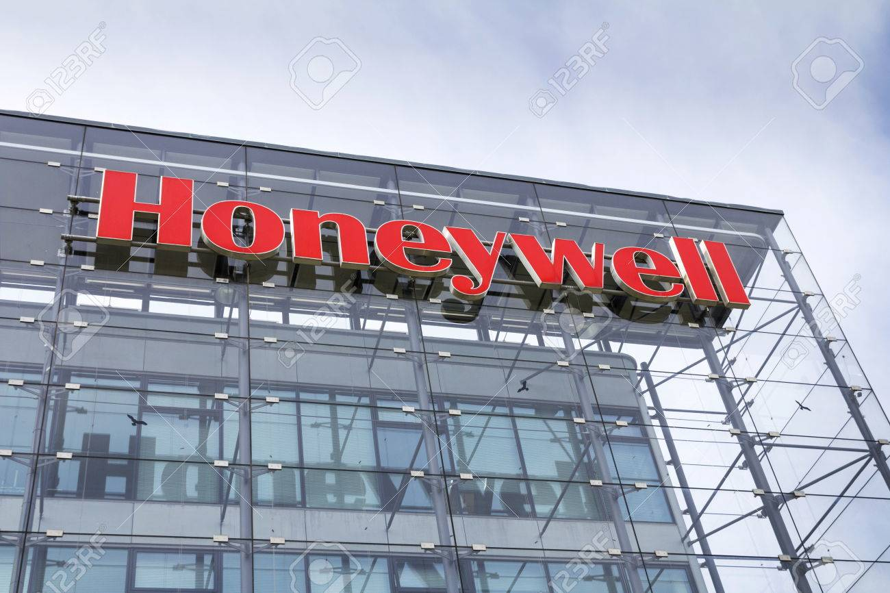 PRAGUE, CZECH REPUBLIC - MAY 22: Honeywell company logo on headquarters