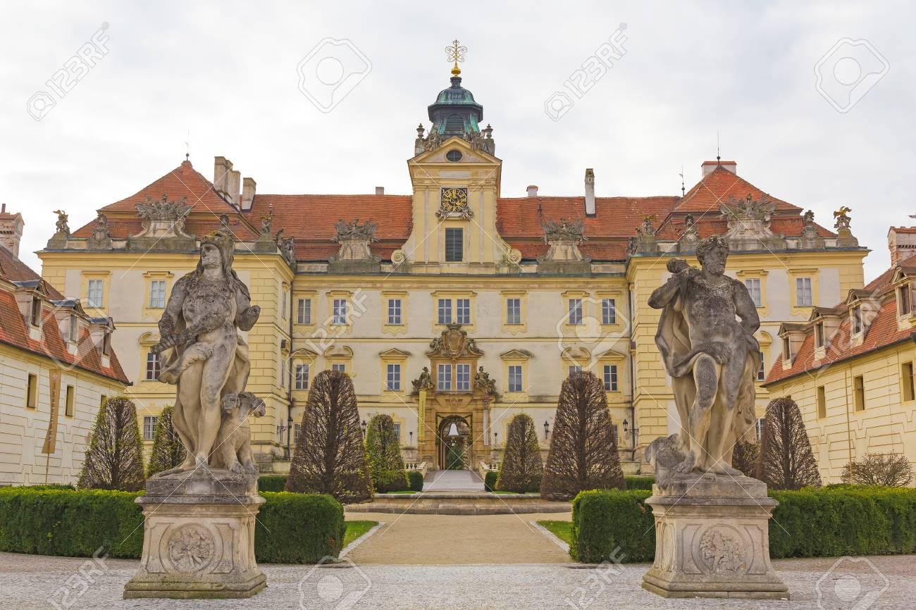 Valtice Castle, Southern Moravia, Czech Republic, Cloudy Sky Stock ...
