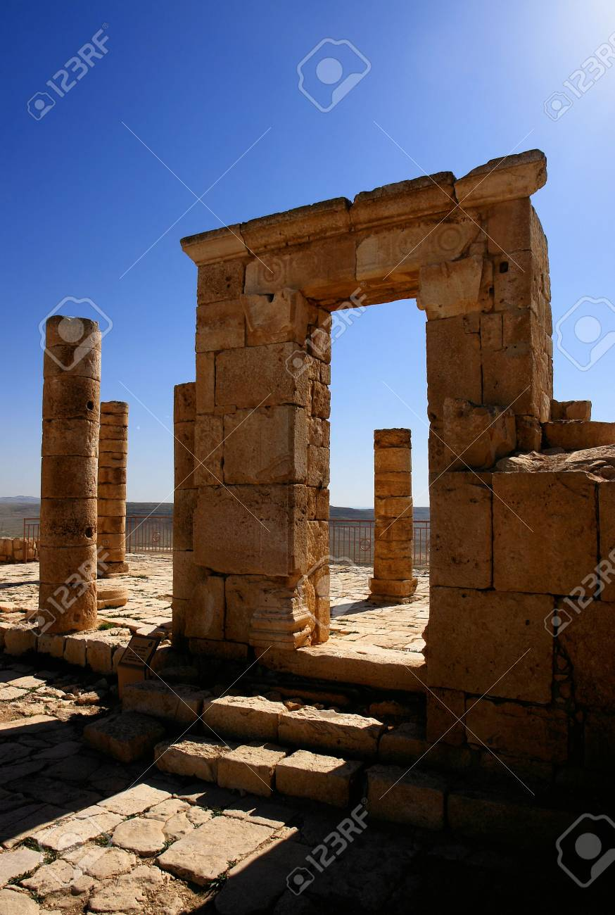 Ruins of the Nabatean city of Avdat, Israel. Stock Photo - 982422