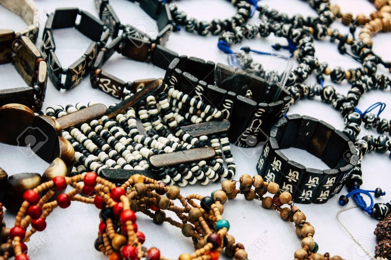 Varanasi India November 10, 2018 View of traditional jewelry,