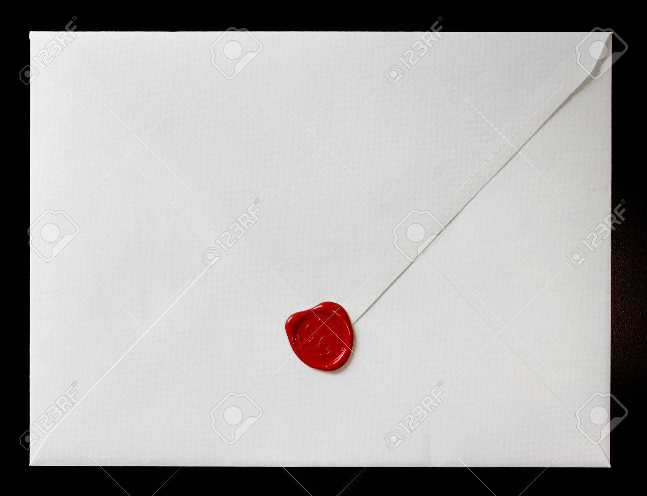 Envelope With Wax Seal. Wedding Invitation Stock Photo, Picture And ...