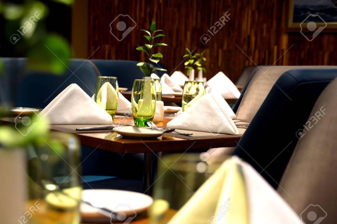 Fine dining restaurant table setup - Table Setting In Fine Dining High Class Restaurant Stock Photo 24653030