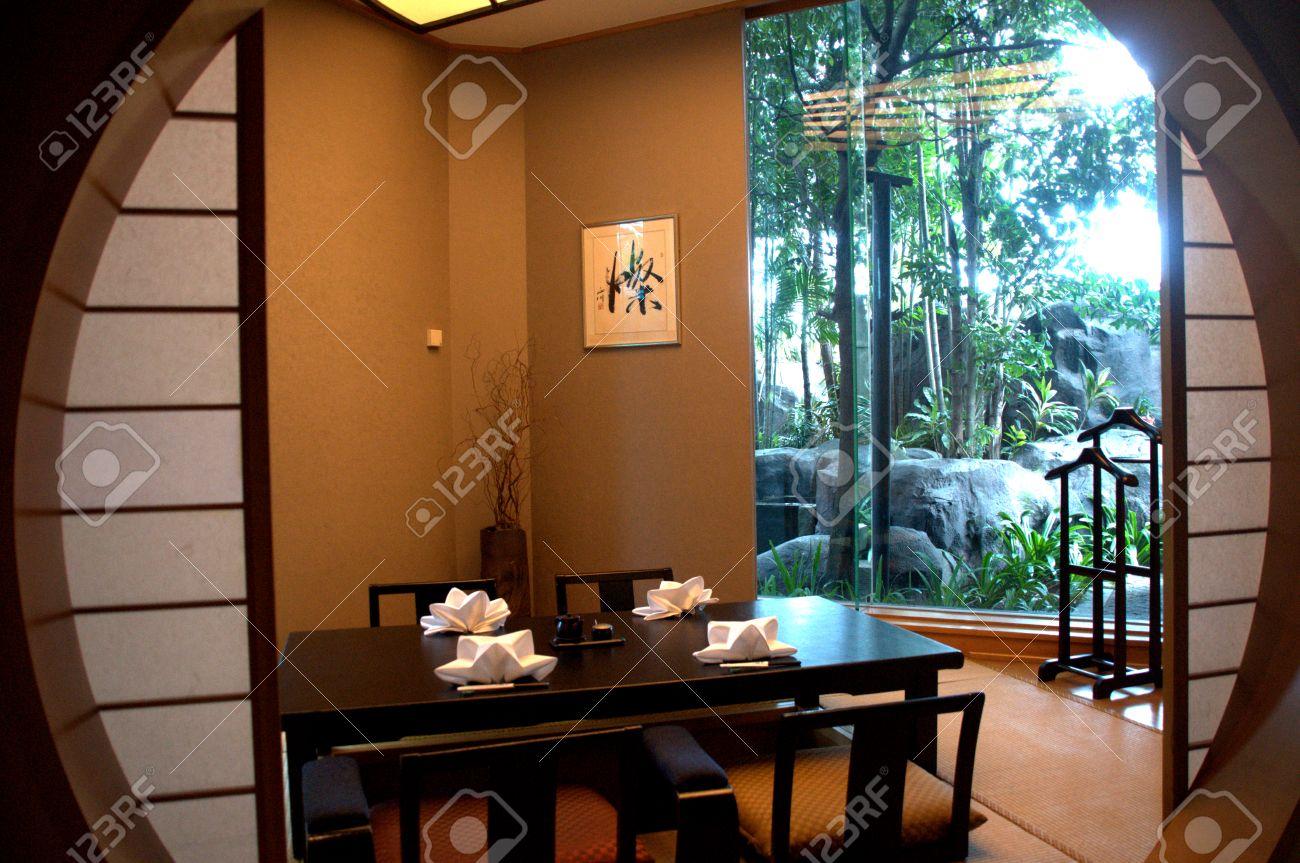 Table À Manger Japonaise décor de table japonaise en salle à manger privée au restaurant japonais
