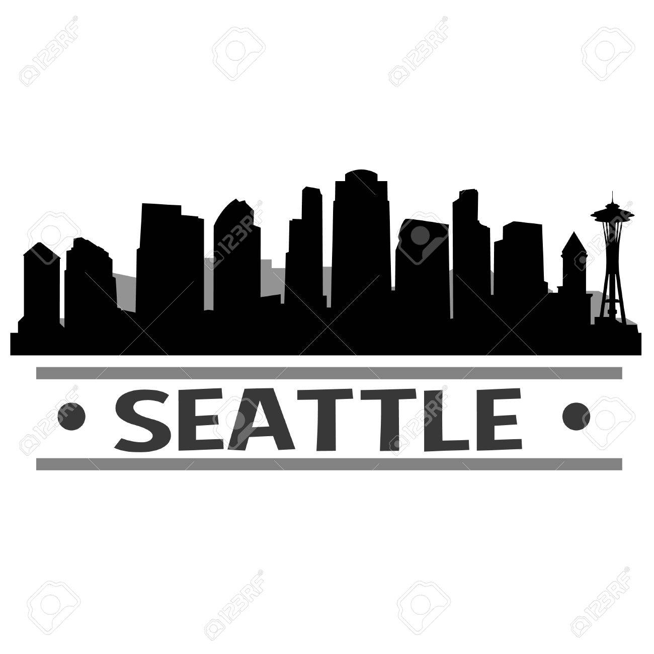 seattle skyline vector art city design royalty free cliparts rh 123rf com seattle skyline outline vector Philadelphia Skyline Vector