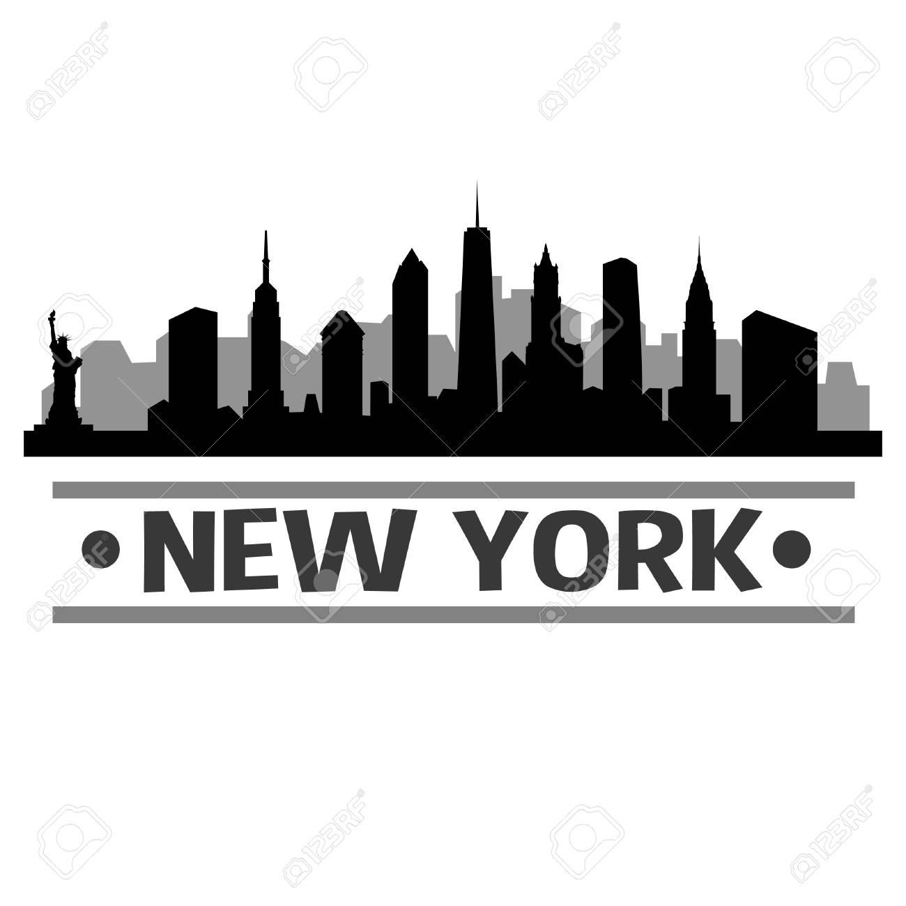 New York Skyline Vector Art City Design Royalty Free Cliparts
