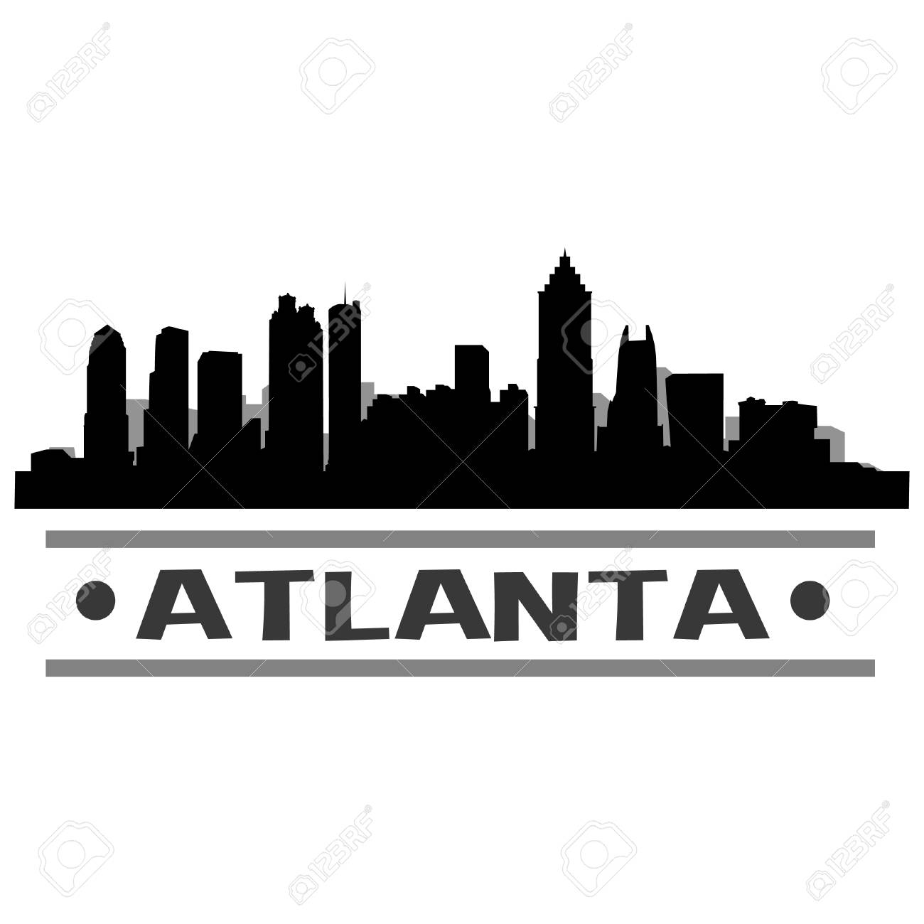 atlanta skyline vector art city design royalty free cliparts, vectors, and  stock illustration. image 83585797.  123rf