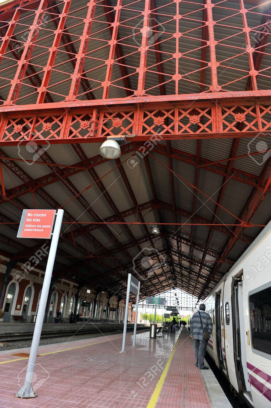 Train station of Medina del Campo, Valladolid, Spain Stock Photo - 22313716