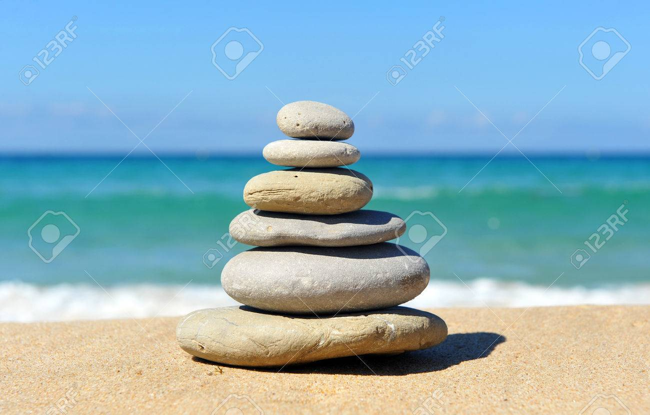 Stones Pyramid In Balance Zen Image Stock Photo Picture And