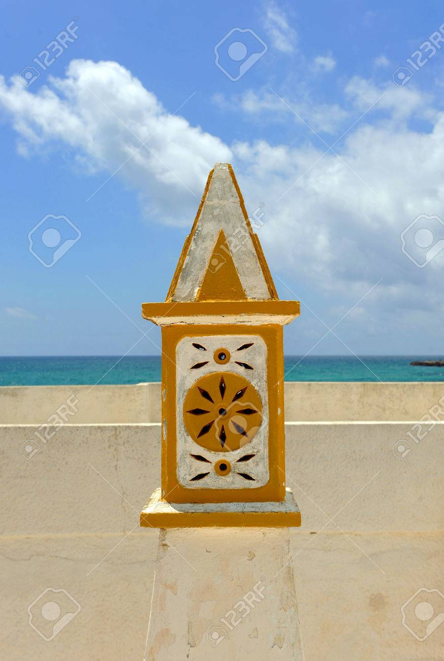 Typical chimney in the region of Algarve, Culatra Island, the south of Portugal, Europe Stock Photo - 26055937