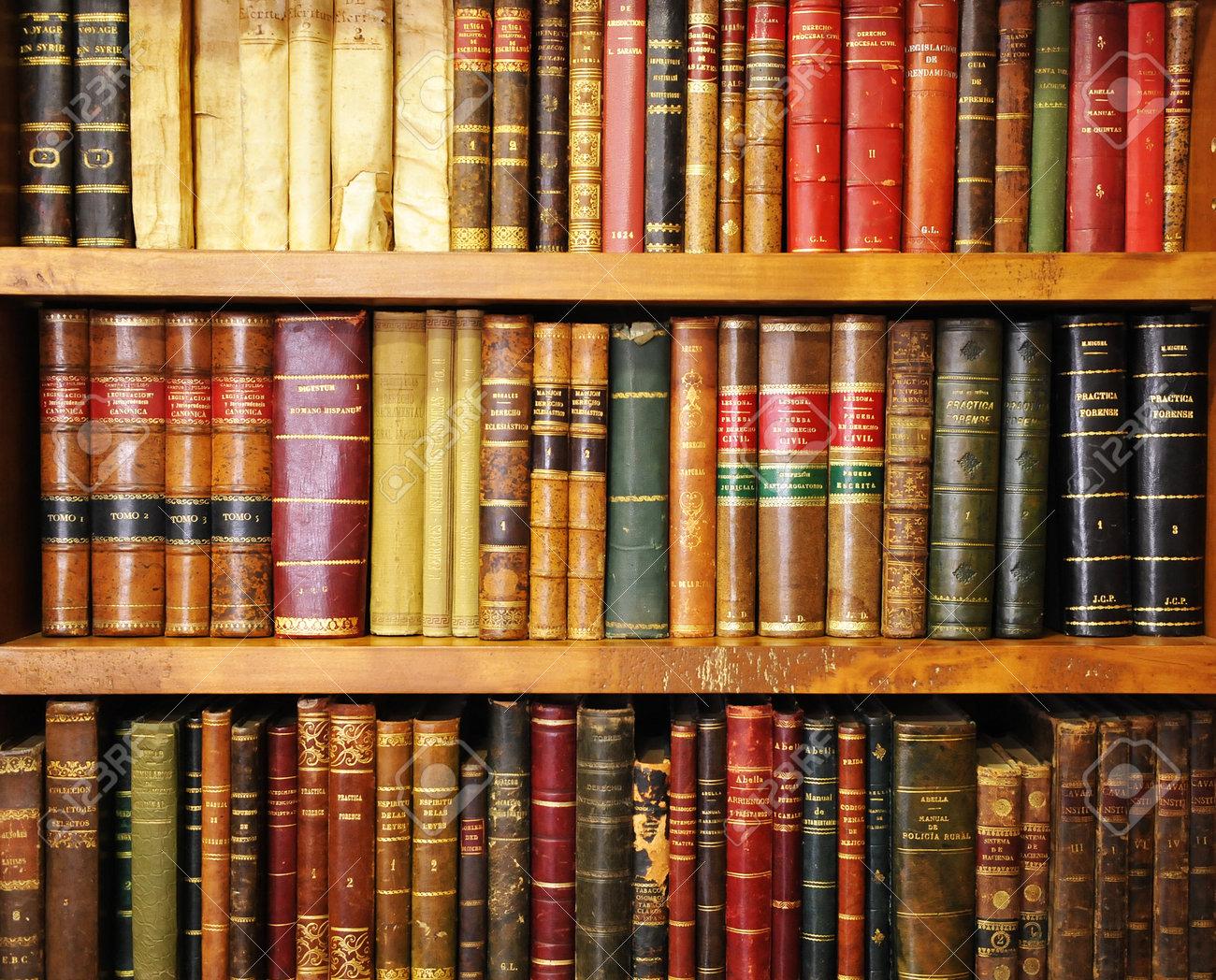 Biblioteca Estante De Libros Antiguos Librería Fotos Retratos