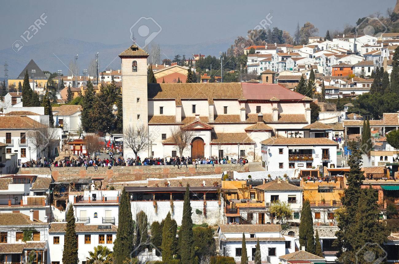 Viewpoint of San Nicolas, Albaicin quarter, Granada, Spain