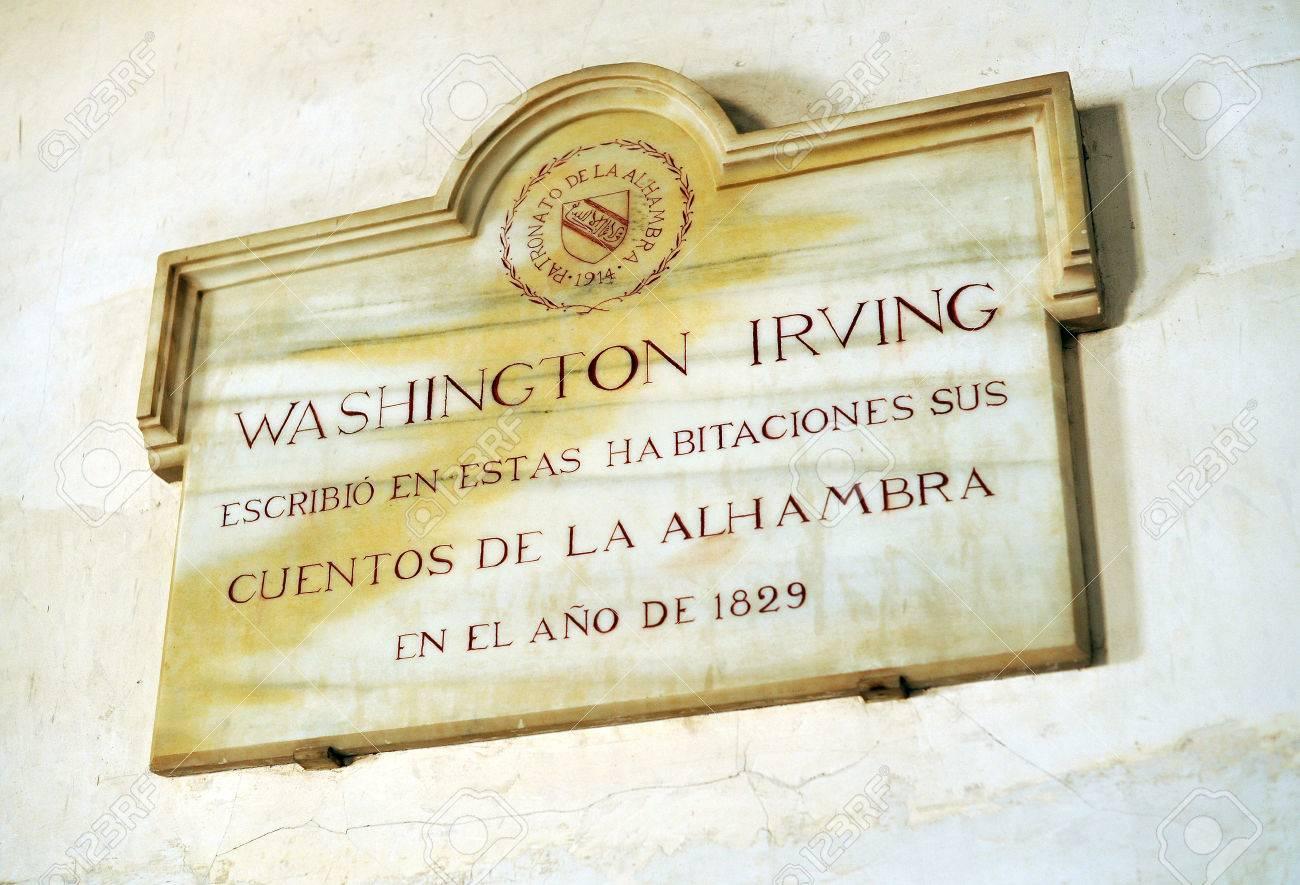 専用のライター、グラナダのアルハンブラ宮殿にワシントン ...