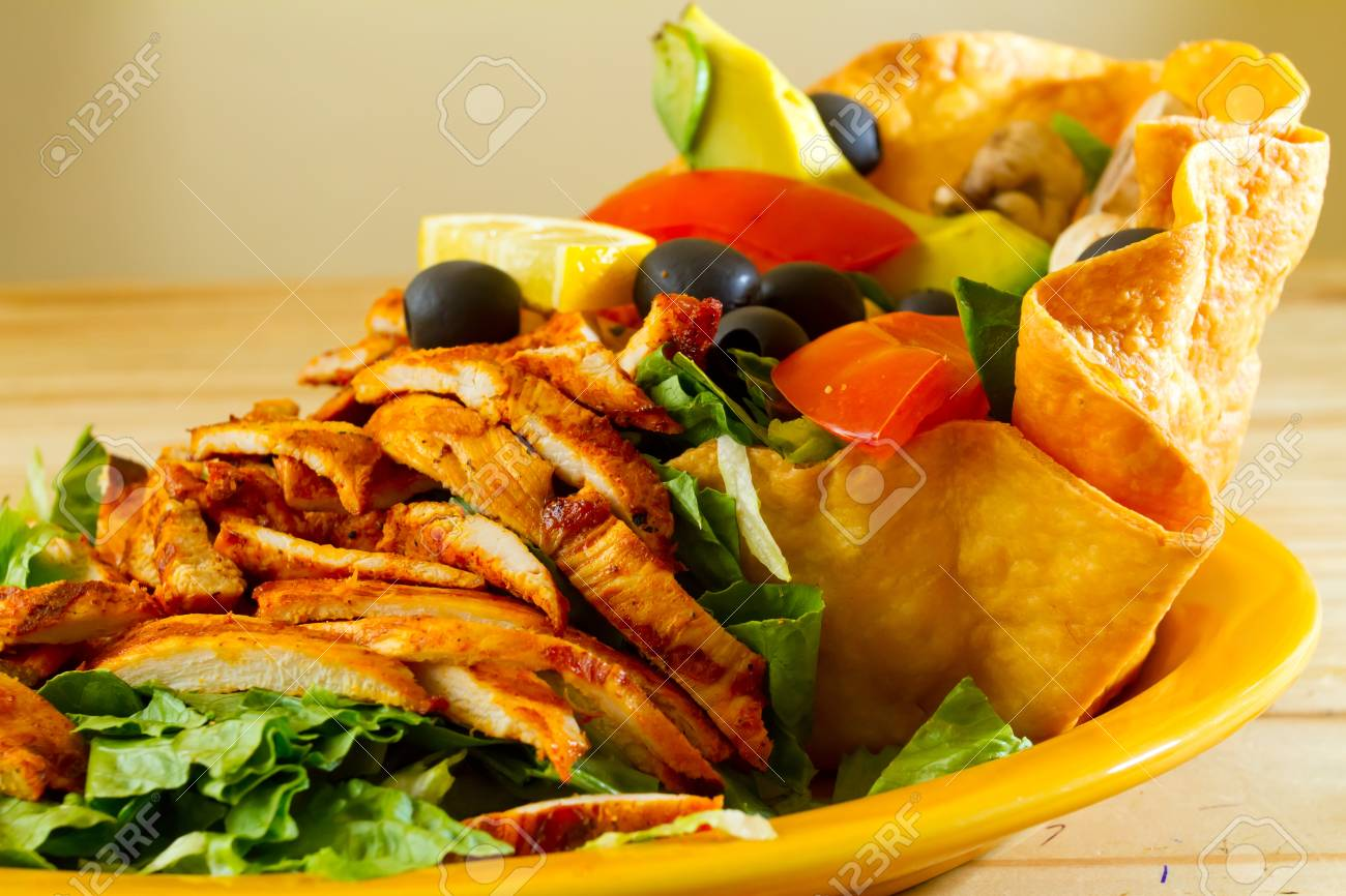 A salad at a Mexican restaurant ready to be served. Stock Photo - 17433489