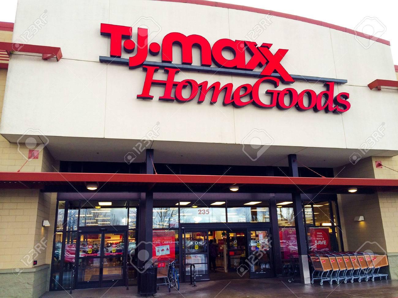 EUGENE, OR   DECEMBER 21: TJ Maxx Home Goods Store Entrance On Decmber 21