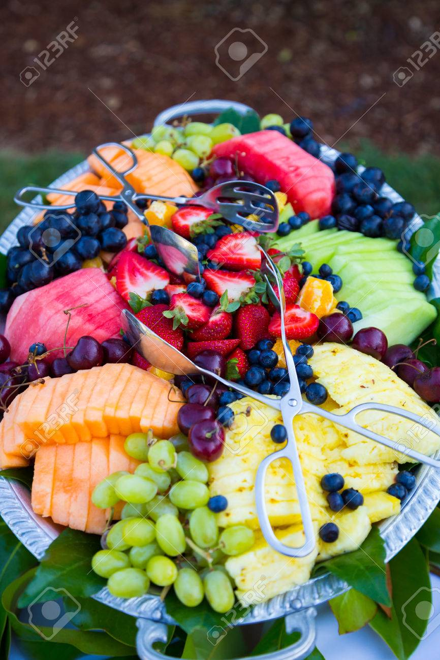 Buffet Dinner At A Wedding Reception Includes This Mixed Fruit ...