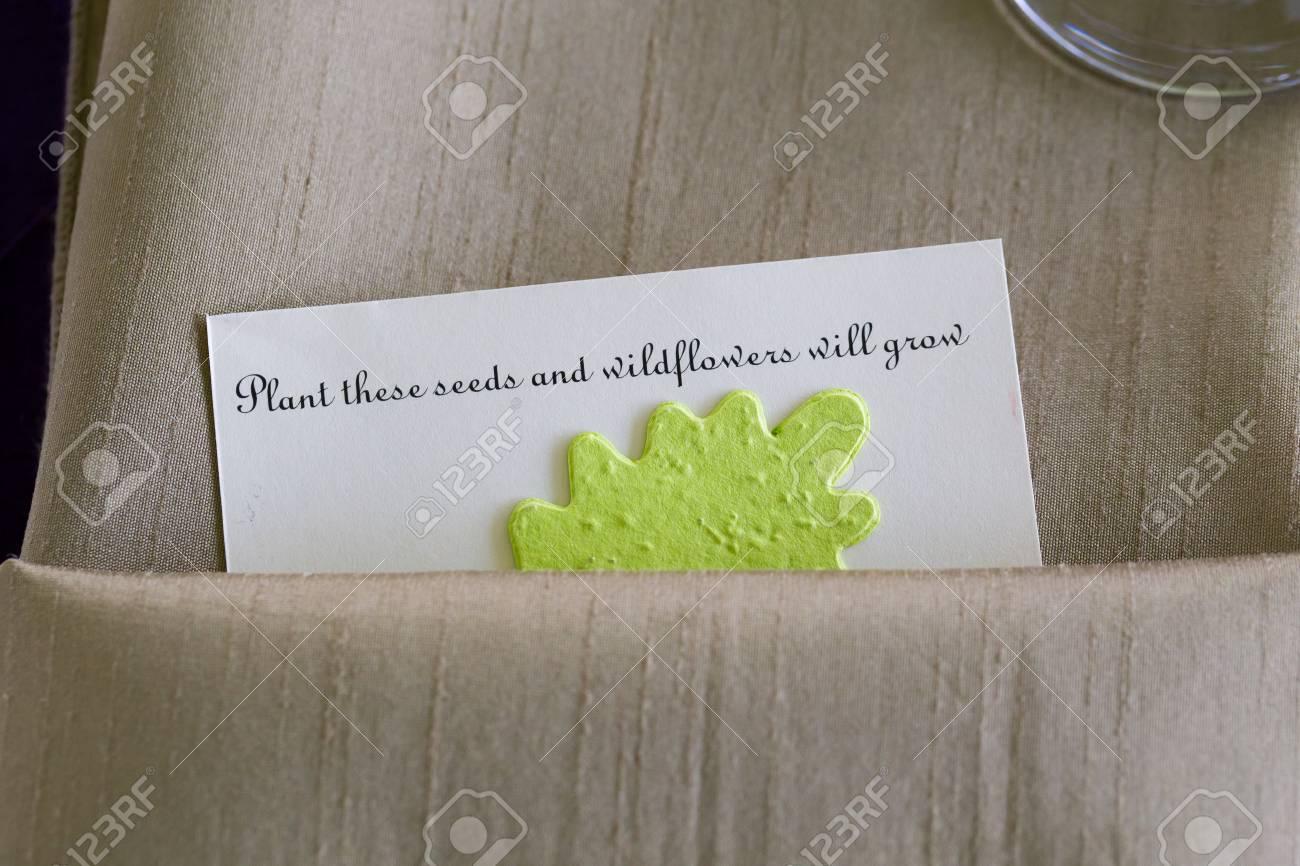 Reception De Mariage Invites Obtenir Ce Cadeau De Faveur Du Parti Des Graines De Fleurs Sauvages A Planter A La Maison