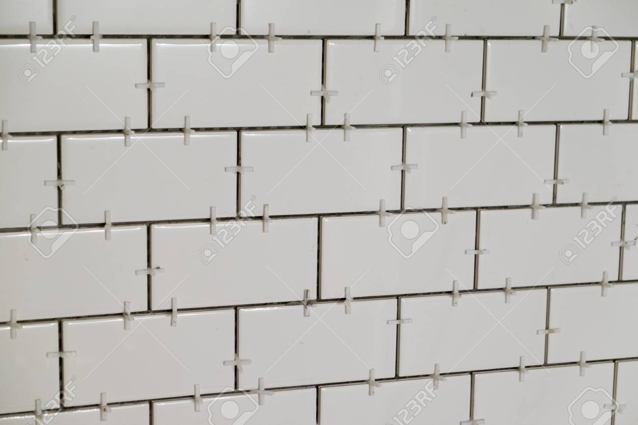 Tub Surround For A Tall Shower With White Subways Tiles Set ...