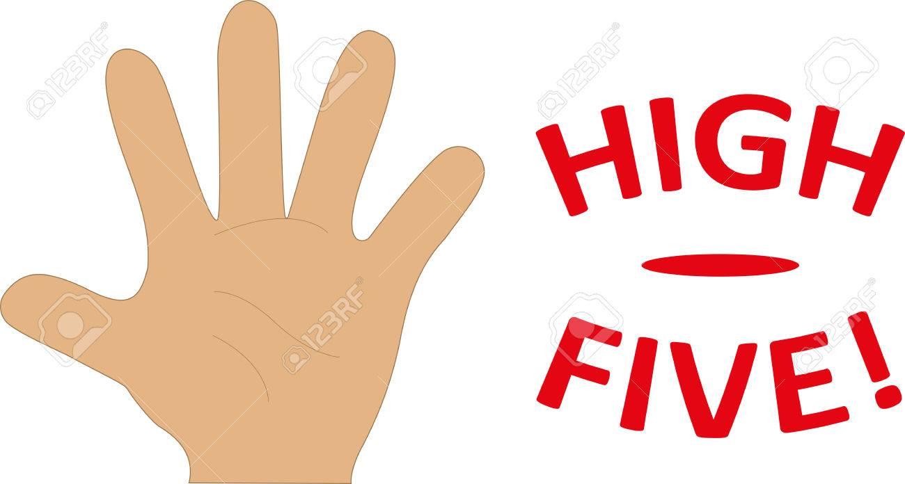 High Five Hand Illustration - 44273457