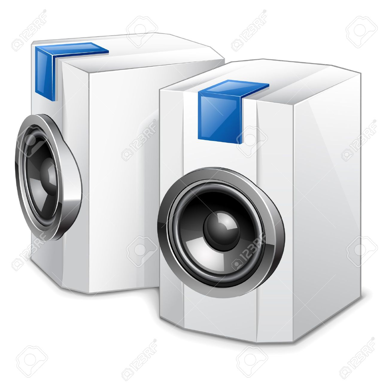 audio speakers clipart. vector illustration of audio speakers on white background stock - 11514256 clipart