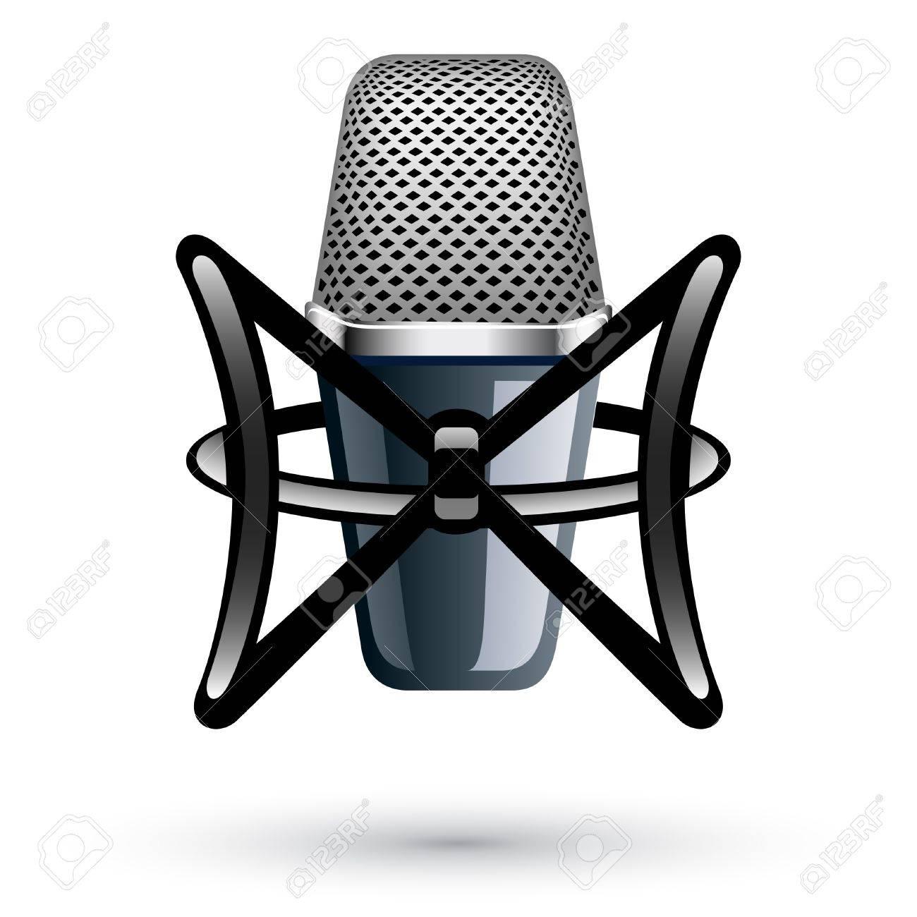 Vector illustration of Studio Condenser Microphone on white background Standard-Bild - 11660688