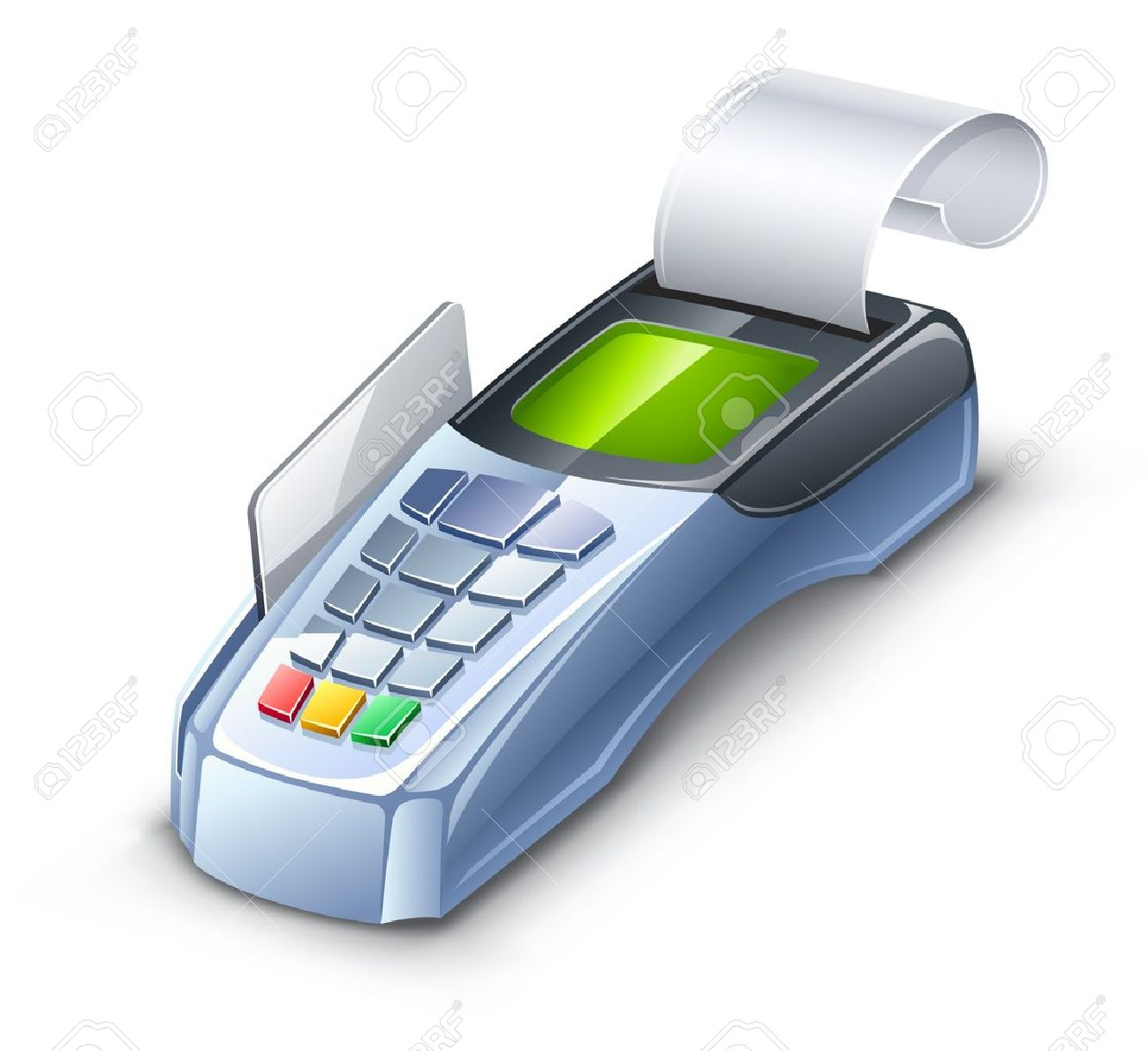 Vector illustration of credit card reader on white background. Stock Vector - 12497065