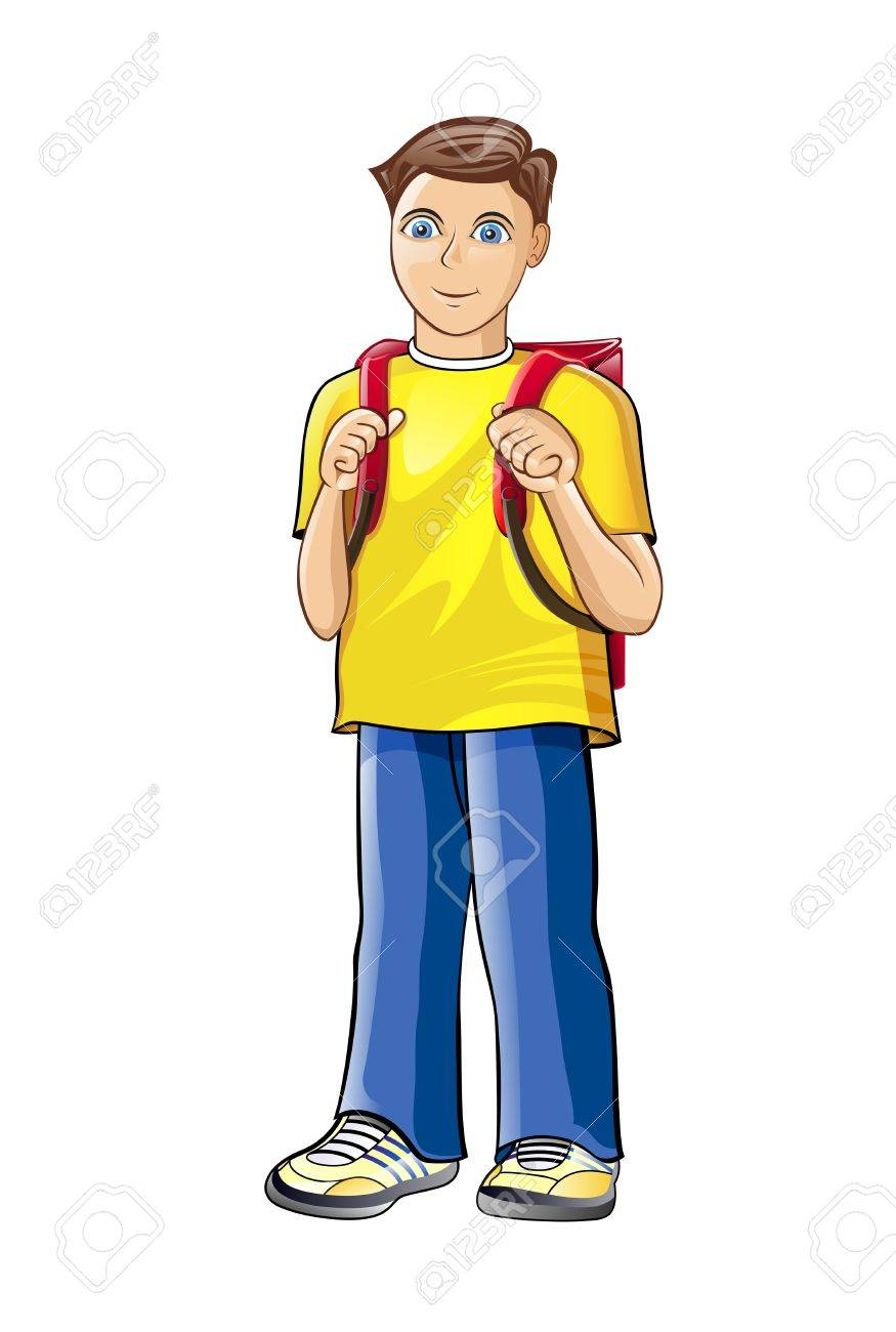 illustration of boy who likes to study. Stock Vector - 14592378