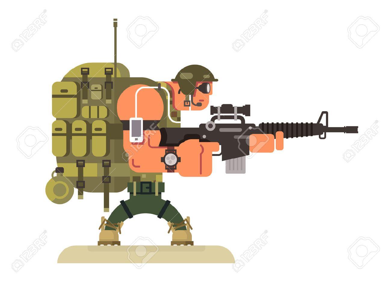 兵士 イラスト