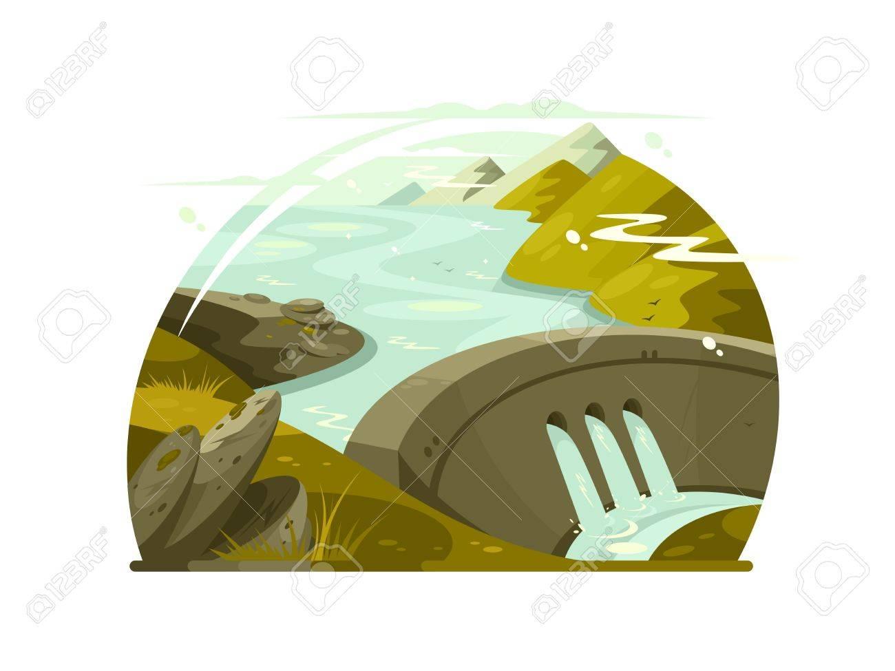 River huge dam - 72277830