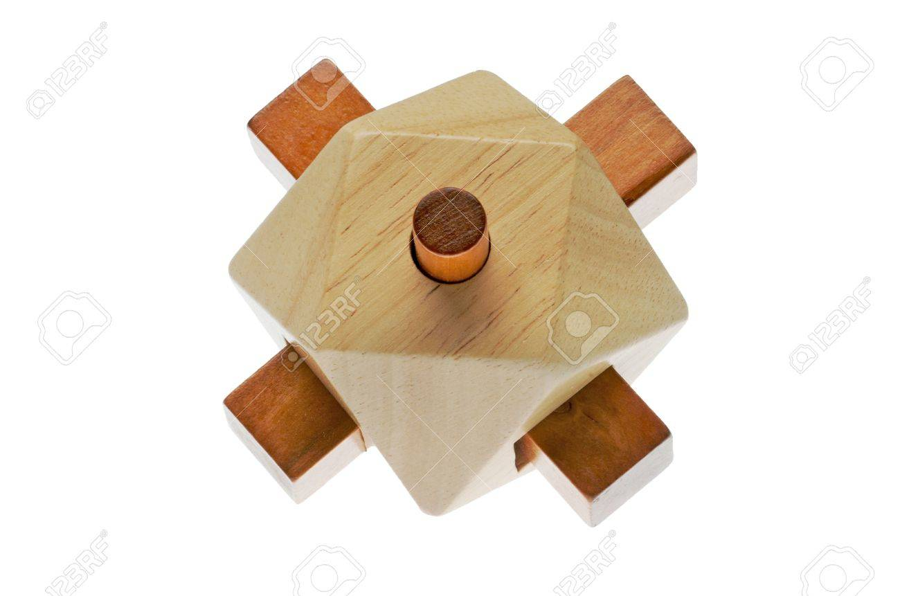 Puzzle, point of contact. Resolute wood riddle. It forms a set Stock Photo - 6615629