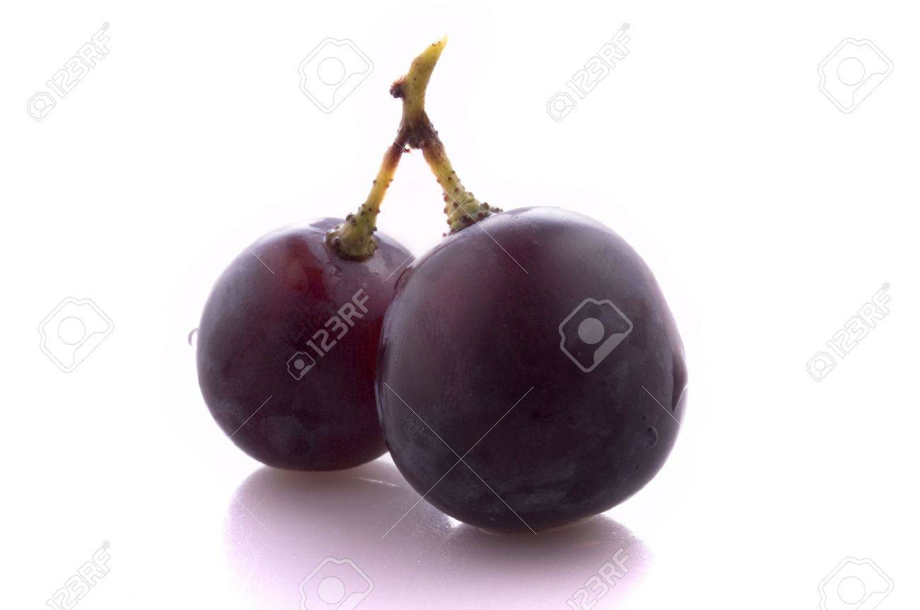 Two fruits of grape, insolated Stock Photo - 6615604
