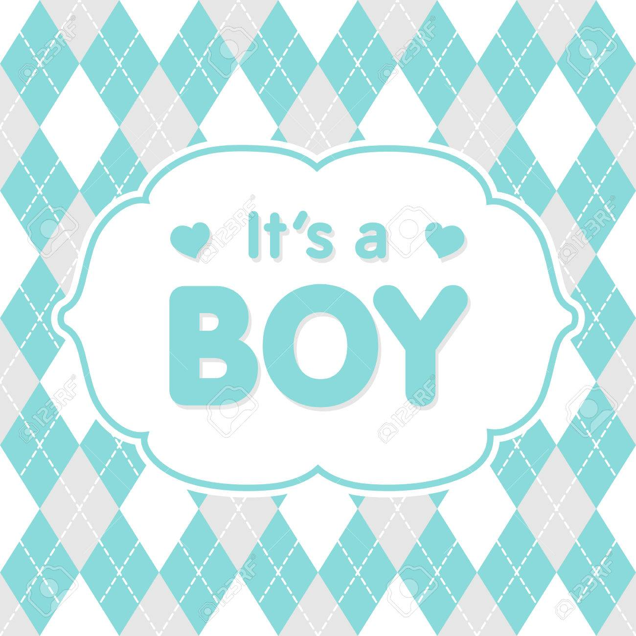 it s a boy vector congratulation baby shower card cute