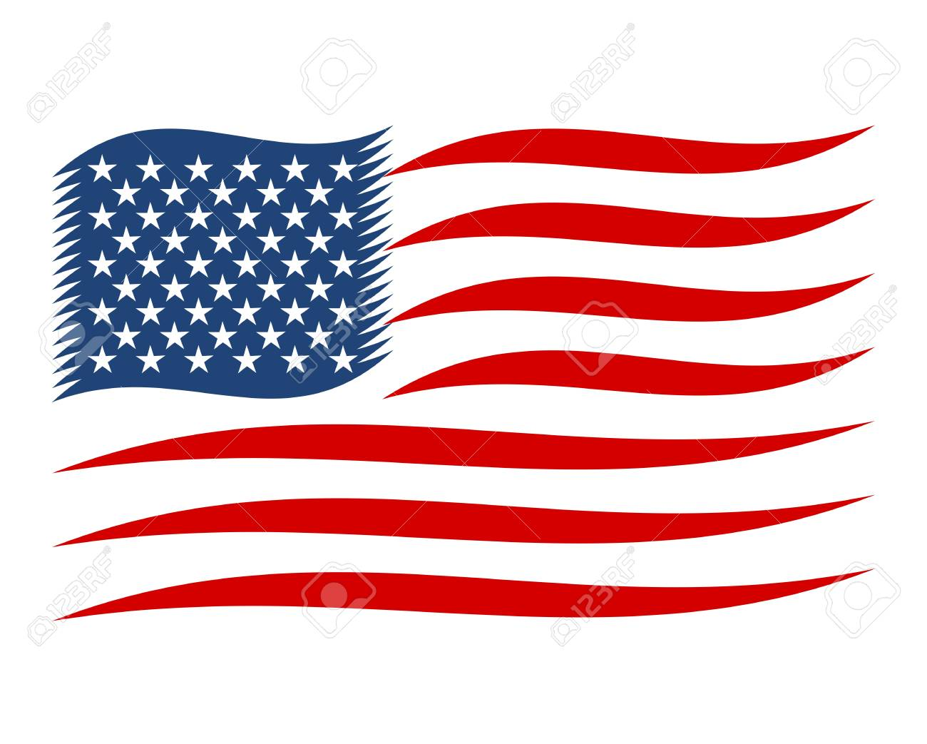 4th Of July American Independence Day Us Flag Abstract Royalty