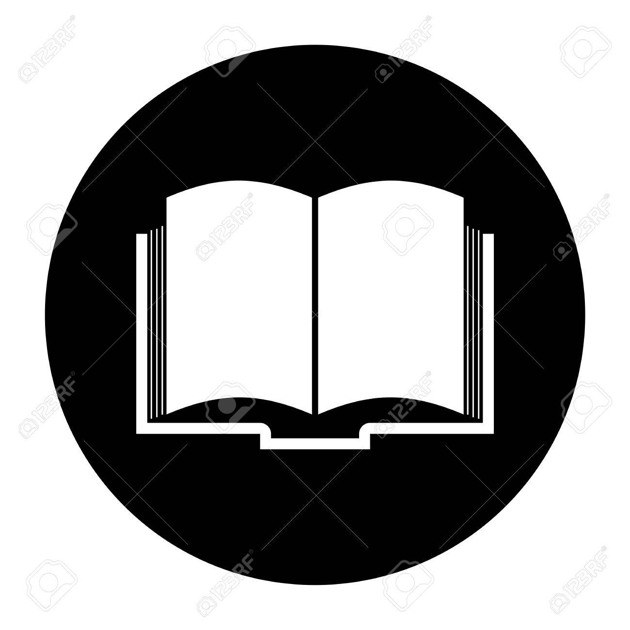book icon black circle royalty free cliparts vectors and stock rh 123rf com open book vector icon facebook icon vector