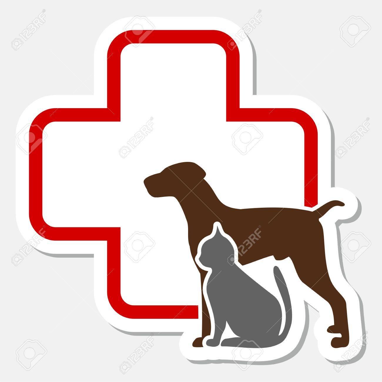 Veterinary icon with medicine symbol - 52795767