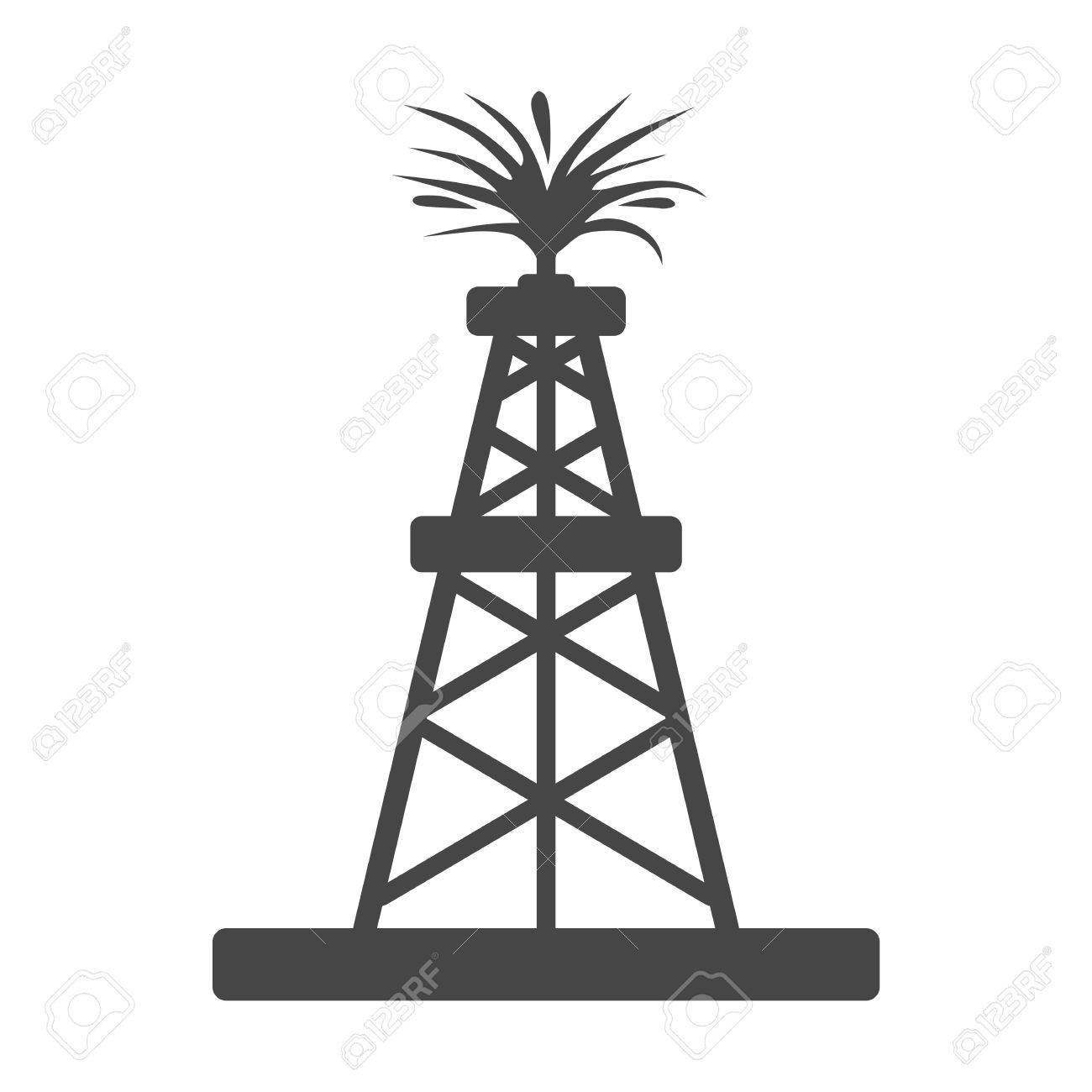oil rig oil gusher sticker icon royalty free cliparts vectors and rh 123rf com oil rig clipart oil rig clipart png