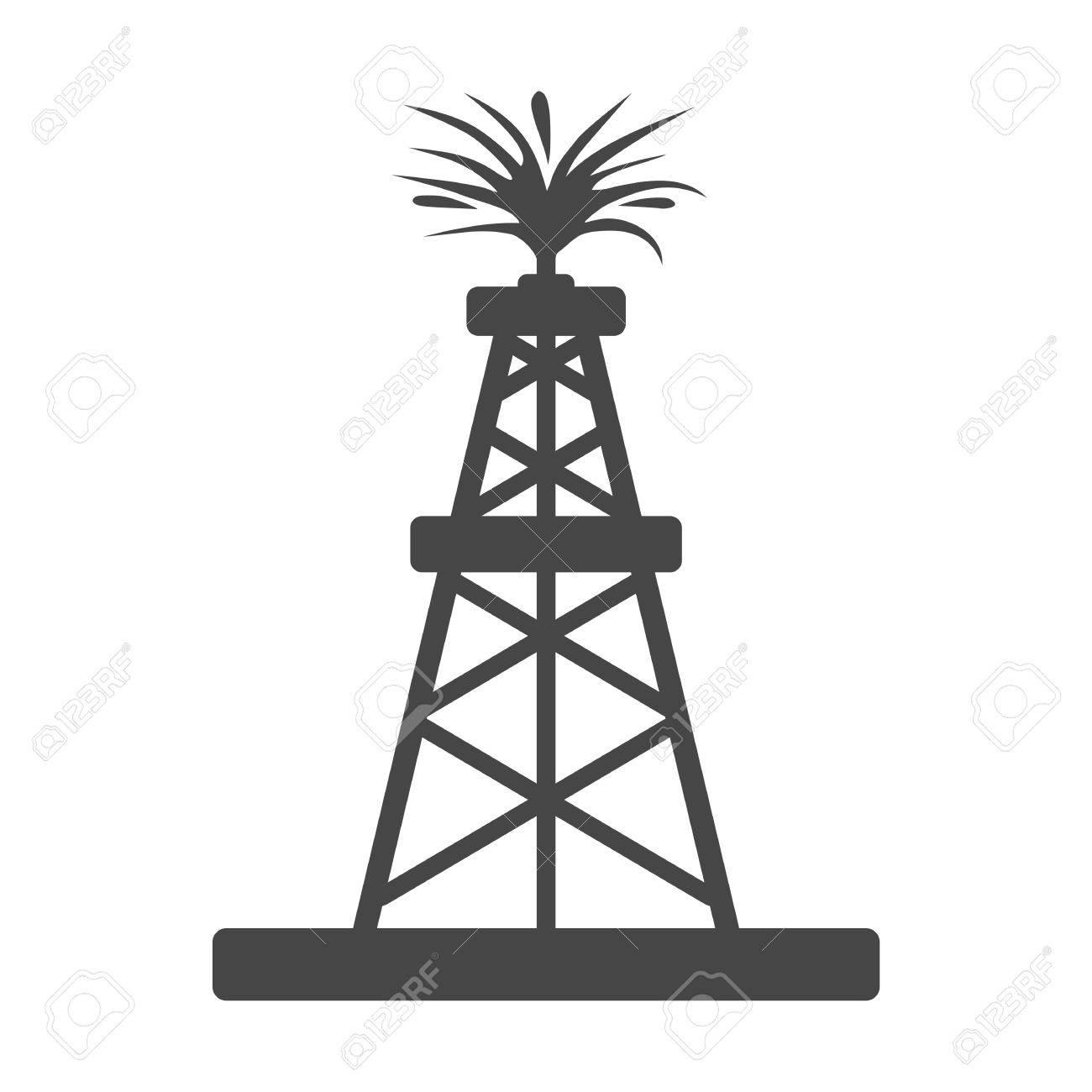 oil rig oil gusher sticker icon royalty free cliparts vectors and rh 123rf com Oil Derrick Clip Art Outline Oil Derrick Clilpart