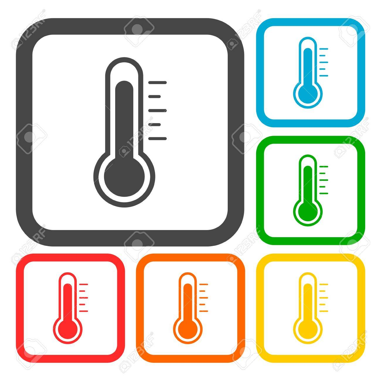Icon Celsius Isolated Cold Warm Volumetric Spring View
