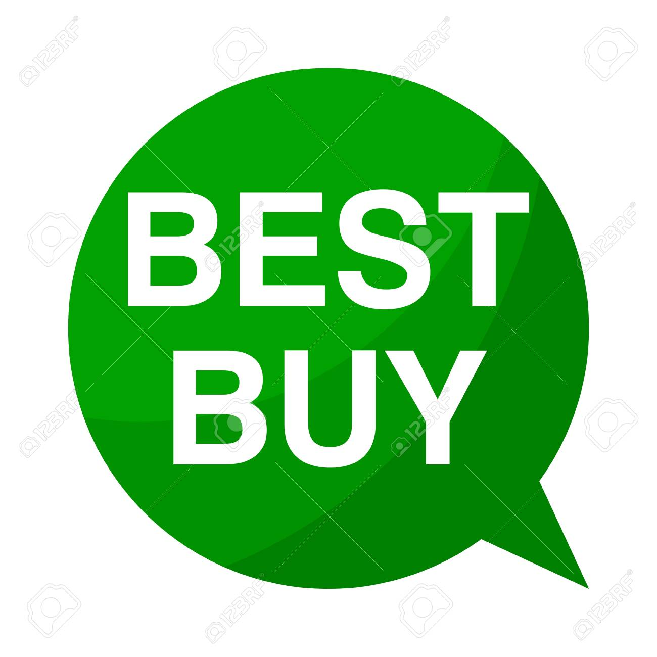 Green Speech Bubble Best Buy Royalty Free Cliparts Vectors And