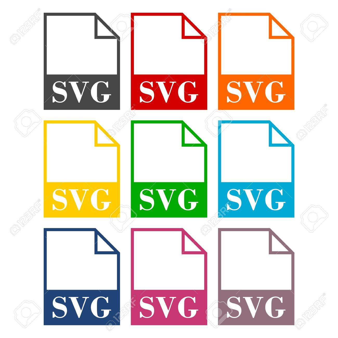 SVG file icons set Stock Vector - 56624959